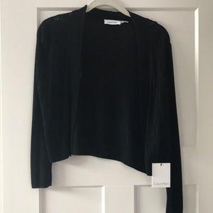 Calvin Klein Bolero Cardigan Shrug Black NWT